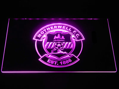 Motherwell F.C. LED Neon Sign - Purple - SafeSpecial