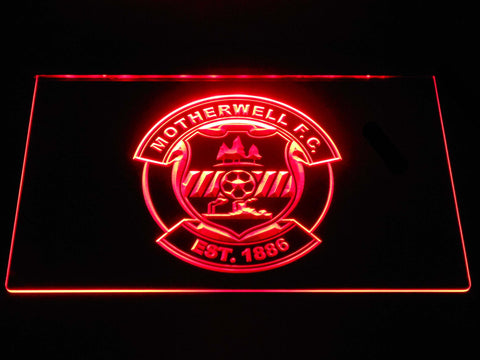 Image of Motherwell F.C. LED Neon Sign - Red - SafeSpecial