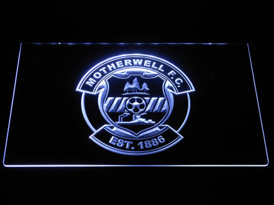 Motherwell F.C. LED Neon Sign - White - SafeSpecial