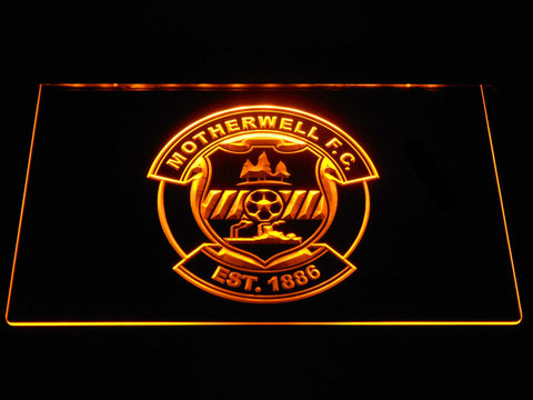 Image of Motherwell F.C. LED Neon Sign - Yellow - SafeSpecial