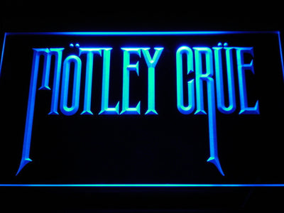 Motley Crue LED Neon Sign - Blue - SafeSpecial