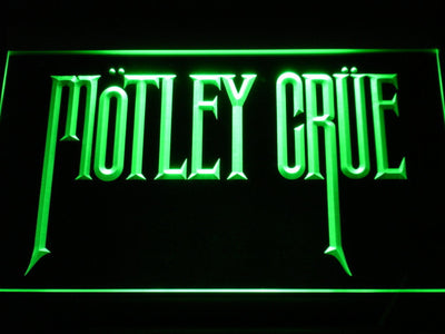 Motley Crue LED Neon Sign - Green - SafeSpecial