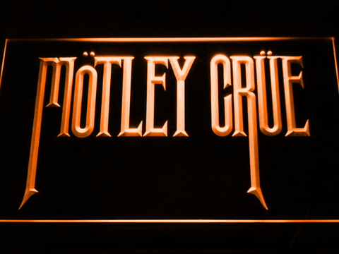 Image of Motley Crue LED Neon Sign - Orange - SafeSpecial