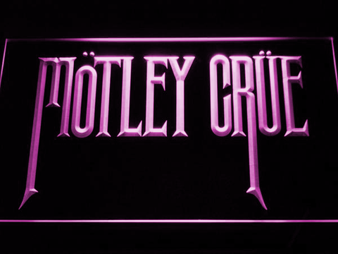 Image of Motley Crue LED Neon Sign - Purple - SafeSpecial