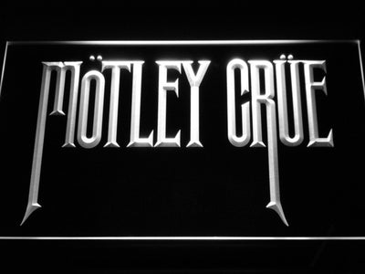 Motley Crue LED Neon Sign - White - SafeSpecial