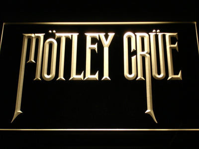 Motley Crue LED Neon Sign - Yellow - SafeSpecial