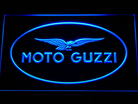 Image of Moto Guzzi LED Neon Sign - Blue - SafeSpecial