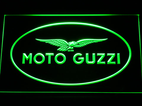 Image of Moto Guzzi LED Neon Sign - Green - SafeSpecial