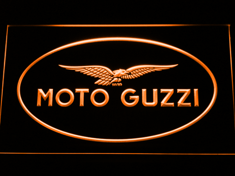 Image of Moto Guzzi LED Neon Sign - Orange - SafeSpecial