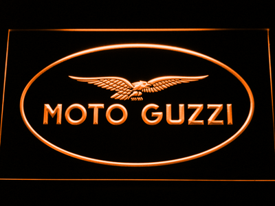 Moto Guzzi LED Neon Sign - Orange - SafeSpecial