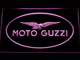 Moto Guzzi LED Neon Sign - Purple - SafeSpecial