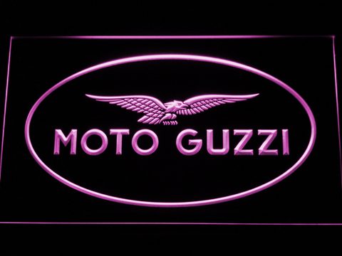 Image of Moto Guzzi LED Neon Sign - Purple - SafeSpecial