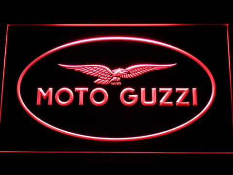 Image of Moto Guzzi LED Neon Sign - Red - SafeSpecial