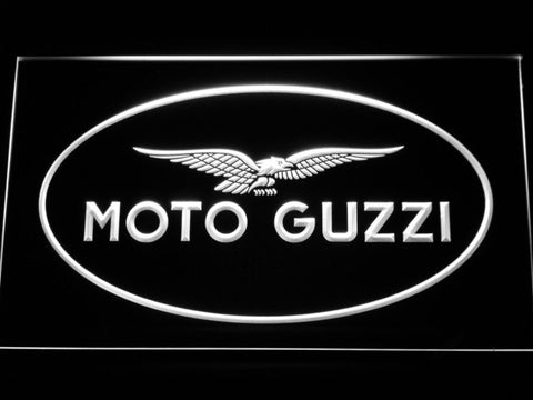Moto Guzzi LED Neon Sign - White - SafeSpecial