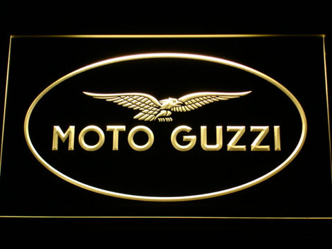 Image of Moto Guzzi LED Neon Sign - Yellow - SafeSpecial