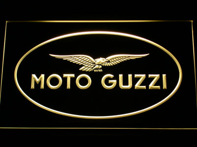 Moto Guzzi LED Neon Sign - Yellow - SafeSpecial