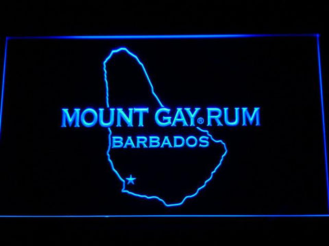 Mount Gay Rum Barbados LED Neon Sign - Blue - SafeSpecial