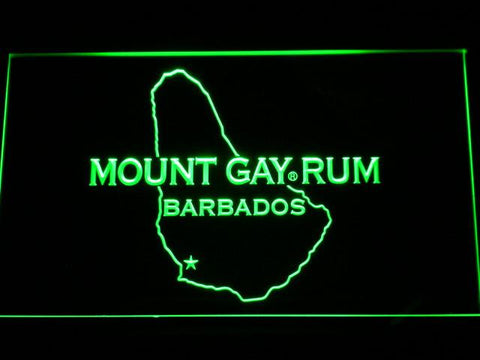 Mount Gay Rum Barbados LED Neon Sign - Green - SafeSpecial