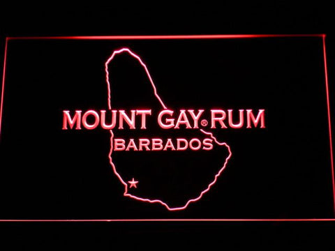 Mount Gay Rum Barbados LED Neon Sign - Red - SafeSpecial