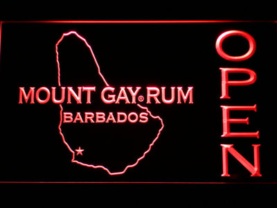 Mount Gay Rum Barbados Open LED Neon Sign - Red - SafeSpecial
