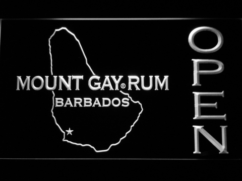 Image of Mount Gay Rum Barbados Open LED Neon Sign - White - SafeSpecial