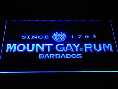Mount Gay Rum Wordmark LED Neon Sign - Blue - SafeSpecial
