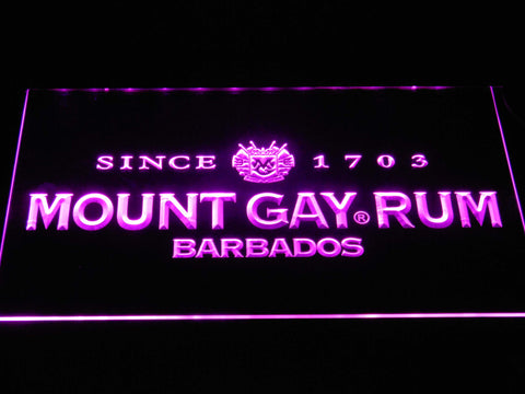 Mount Gay Rum Wordmark LED Neon Sign - Purple - SafeSpecial