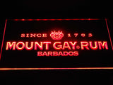 Mount Gay Rum Wordmark LED Neon Sign - Red - SafeSpecial