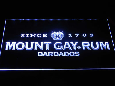 Mount Gay Rum Wordmark LED Neon Sign - White - SafeSpecial