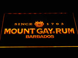 Mount Gay Rum Wordmark LED Neon Sign - Yellow - SafeSpecial