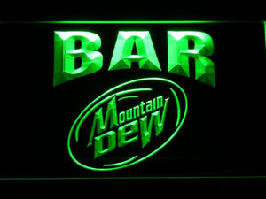 Mountain Dew Bar LED Neon Sign - Green - SafeSpecial