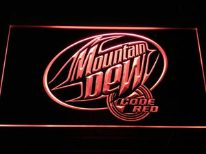 Mountain Dew Code Red LED Neon Sign - Red - SafeSpecial