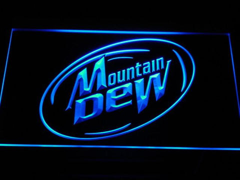 Image of Mountain Dew LED Neon Sign - Blue - SafeSpecial