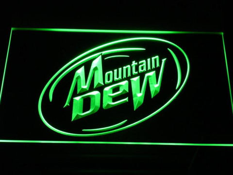 Image of Mountain Dew LED Neon Sign - Green - SafeSpecial