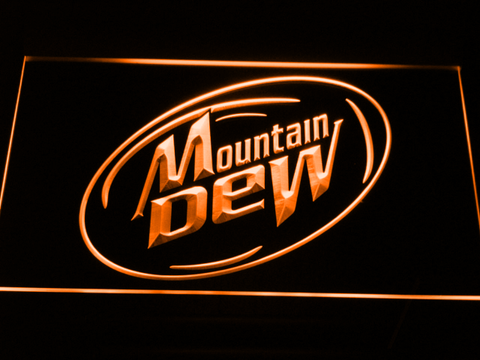 Image of Mountain Dew LED Neon Sign - Orange - SafeSpecial