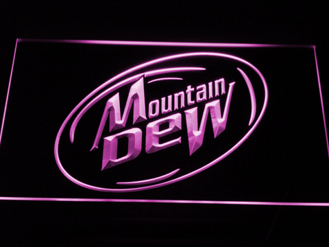 Image of Mountain Dew LED Neon Sign - Purple - SafeSpecial