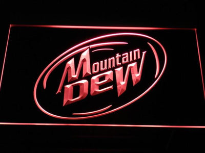 Mountain Dew LED Neon Sign - Red - SafeSpecial