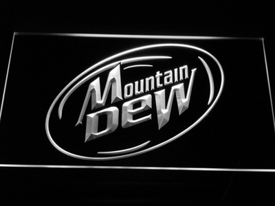 Mountain Dew LED Neon Sign - White - SafeSpecial
