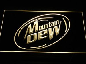 Mountain Dew LED Neon Sign - Yellow - SafeSpecial