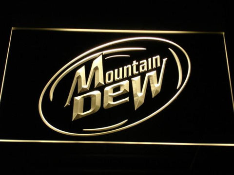 Image of Mountain Dew LED Neon Sign - Yellow - SafeSpecial