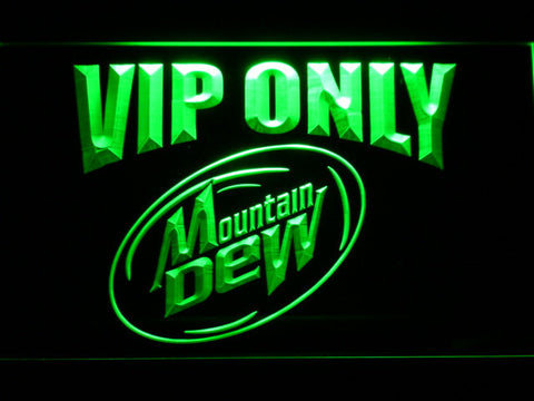Mountain Dew VIP Only LED Neon Sign - Green - SafeSpecial