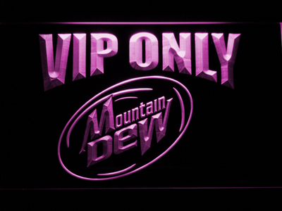 Mountain Dew VIP Only LED Neon Sign - Purple - SafeSpecial