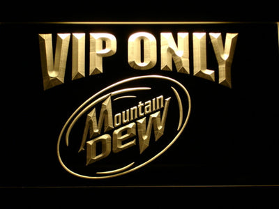 Mountain Dew VIP Only LED Neon Sign - Yellow - SafeSpecial