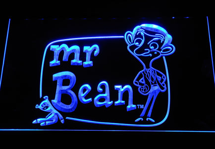 Mr. Bean The Animated Series LED Neon Sign - Blue - SafeSpecial