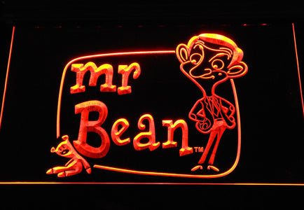 Mr. Bean The Animated Series LED Neon Sign - Orange - SafeSpecial