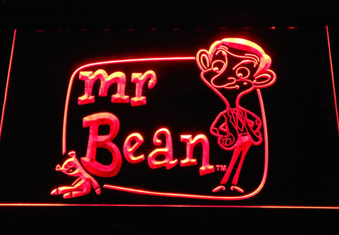Image of Mr. Bean The Animated Series LED Neon Sign - Red - SafeSpecial