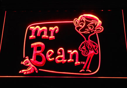 Mr. Bean The Animated Series LED Neon Sign - Red - SafeSpecial