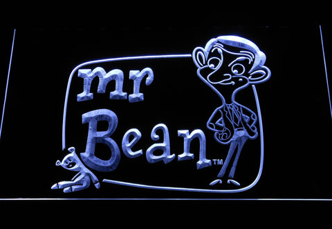 Image of Mr. Bean The Animated Series LED Neon Sign - White - SafeSpecial