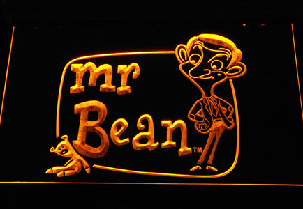 Mr. Bean The Animated Series LED Neon Sign - Yellow - SafeSpecial