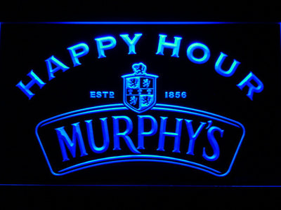 Murphy's Happy Hour LED Neon Sign - Blue - SafeSpecial